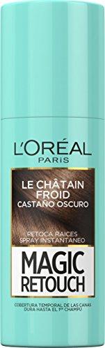 L'Oreal Paris Coloración No Permanente Magic Retouch Castaño Oscuro - 75 ml