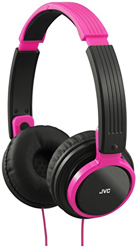 JVC HA-S200-ZP-E Universal On-Ear Leicht Kopfhörer Kompatibel mit Apple und Android Smartphones, Tablets, eReaders, MP3s, PCs, Laptops, Netbooks, HiFis - Pink (Android Netbook)