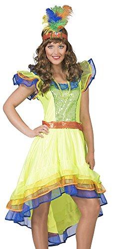 Das Kostümland Brasilianerin Leticia Kostüm für Damen Gr. 36 - Samba Kostüm Brasilien