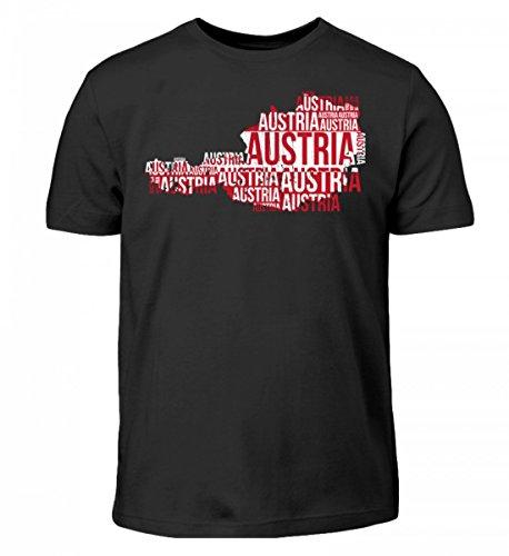 Hochwertiges Kinder T-Shirt - Austria Österreich Ländershirt Landkarte Fussball Soccer Flagge Trikot Geschenk