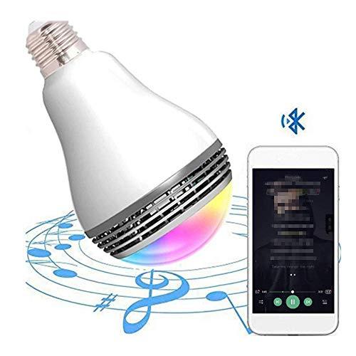 CMXX 2 Pacchi Lampadina per Altoparlanti Bluetooth Intelligente Altoparlante Bluetooth Senza Fili Luce A LED Giocare Musica Audio Lampada di Natale per Cucina, Camera da Letto, Bagno, Negozio