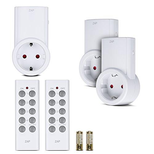 Etekcity® Enchufes Inalámbricos Inteligentes con Control Remoto para Luces y Domótica, (3 Enchufes + 2 Mandos a Distancia), Blanco