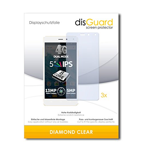 3 x disGuard® Schutzfolie Allview E4 Bildschirmschutz Folie
