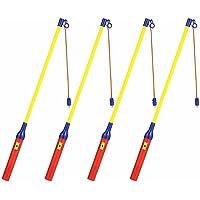 EasyAcc 4 x Eletkrischer Laternenstab mit LED ca.40cm für Kindergeburtstage, Parties, Laternenumzüge,St. Martin und mehr - 4er-Pack