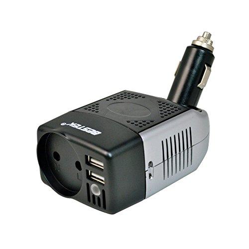 BESTEK Convertisseur 12V en 220V Chargeur Allume Cigare 75W Onduleur Transformateur de Tension Dual Ports USB - Prise EU