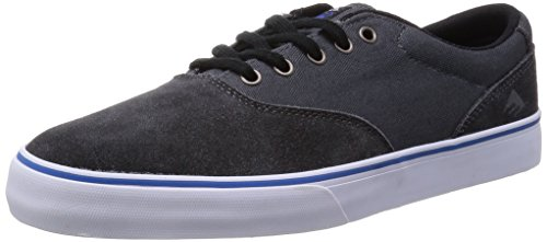 Emerica Provost Slim Vulc X Toy Machine, Herren Skateboardschuhe, Grau (black/grey/570), 45 EU (Canvas Suede Cap)