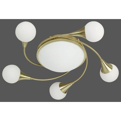 Deckenleuchte Farbe (Glas) / Ausführung: Opalweiß matt / Nickel matt