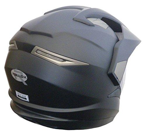 Crosshelm Integralhelm Helm Motorradhelm Rollerhelm RALLOX XP14A schwarz/matt (S, M, L, XL, XXL) Größe M -
