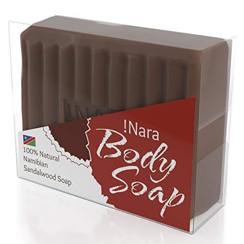 Nara Seife mit Sandelholz, handgemachte Naturkosmetik Öl-Seife zur täglichen Gesichtspflege und Körperpflege (1x80 gr) -