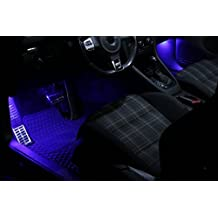 Iluminación de los pies azul SMD LED adecuado para Seat Leon 1P 1M Ibzia 2 3 6L Xenon Blanca Can-bus