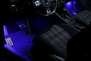 SMD LED éclairage de plancher bleu approprié pour Audi TTS 8J A8 Q5 Q7 D2 Xenon Blanc Can-bus C5W