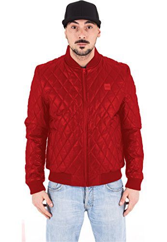 Urban Classics TB1150 Diamond Quilt Leather Imitation Jacket Fire Red