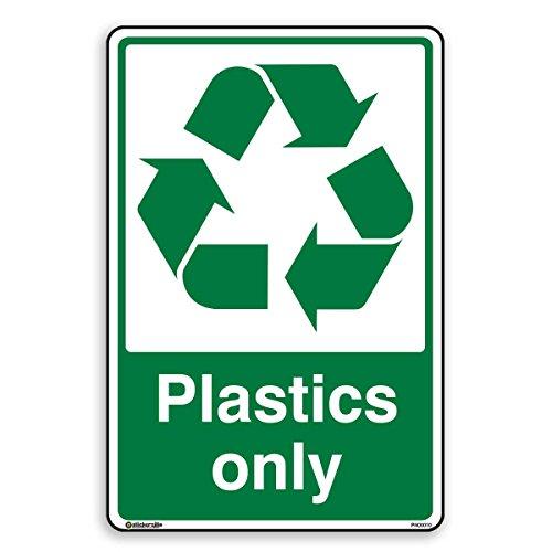 Kunststoffe nur–Recycling Aufkleber–selbstklebend, A5 - 148mm x 210mm, 1 (Recycling Kunststoff-aufkleber)