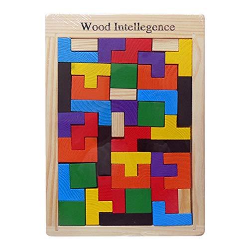 DARLINGTON & Sohns Geschicklichkeitsspiel Kinder Holz Puzzle Lernspiel Motorische Fähigkeiten Holzklötze
