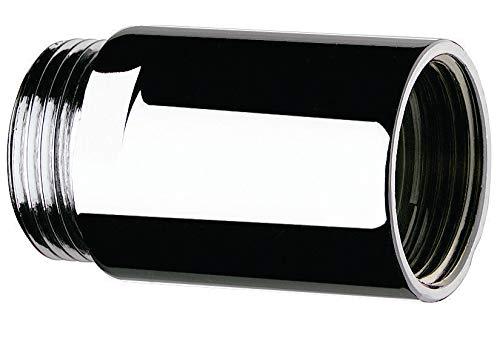 rallonge chromée - mâle 15 x 21 - femelle 15 x 21 - l25 mm - diamètre 24 - delabie 822215
