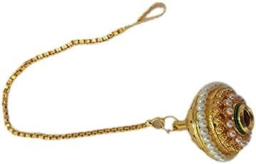 OM BICHIYA Traditional Gold Colour Maang Tikka for Women OM-102
