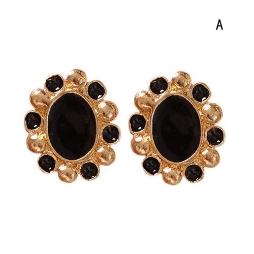 Set orecchini orecchini a bottone in pietra di bohemian flower per le donne alla moda boho jelly opal crystal cubic zirconia orecchini orecchino set piercinga