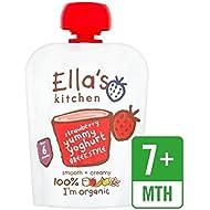 Cocina Orgánica Griego Yogur Y Fresa 90G De Ella - Paquete de 6