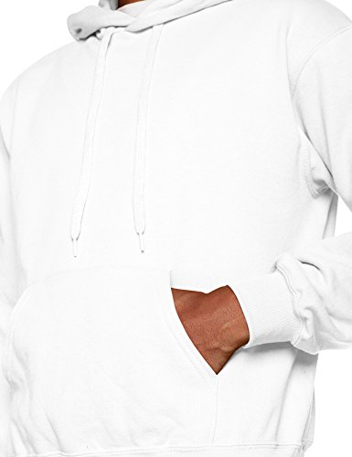 Fruit of the Loom Herren Kapuzenpullover Hooded Sweat Weiß (White 000)