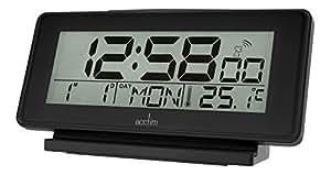 acctim 71643 nemus black radio controlled alarm clock kitchen. Black Bedroom Furniture Sets. Home Design Ideas