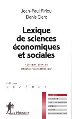 LEXIQUE SCIENCES ECO ET SOCIAL