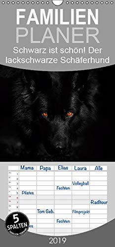 Schwarz ist schön! Der lackschwarze altdeutsche Schäferhund - Familienplaner hoch (Wandkalender...