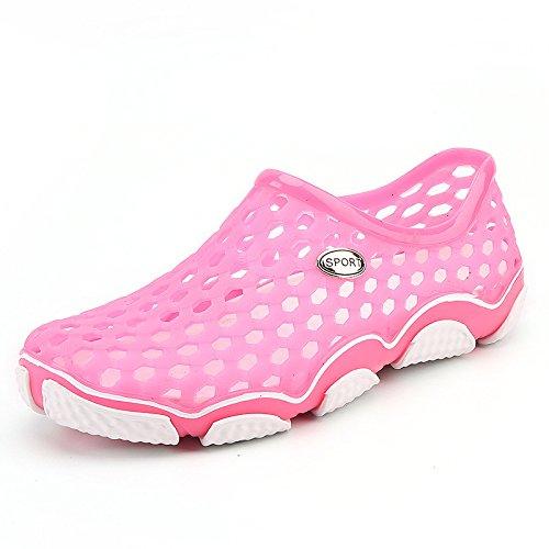 Shaoeo Plage Des Anoureux Chaussures Chaussures Les Amateurs De Trou 2017 Chaussures De Plage Hommes Sandales Pour L'Été L'Antidérapage Pink (female)