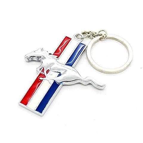 FORD MUSTANG CHROME classique voiture Porte-clés Car Key Chain Key Ring