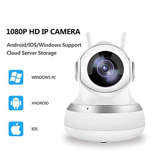 Gybai Webcam 1080P Netzwerkkamera WiFi 1080P Full HD 2.0MP CCTV-Videoüberwachung P2P-Sicherheit Für Zu Hause Neue WiFi-Babyphone Wireless-Kamera Infrarotschnitt (Design : EU Plug)