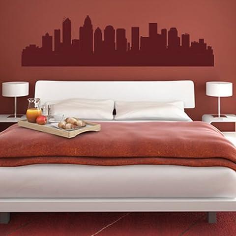 Charlotte North Carolina Skyline Wandaufkleber Wandtattoo Skyline Kunst verfügbar in 5 Größen und 25 Farben Groß Basaltgrau