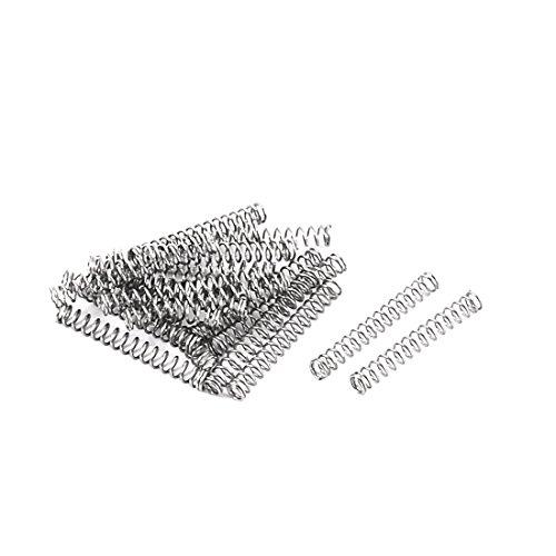 Preisvergleich Produktbild Sourcingmap® 20 Stück Metall Feder Federn Druckfedern Spiralfedern 0, 3mmx2, 3mmx16, 5mm de