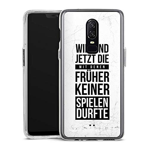 DeinDesign OnePlus 6 Handyhülle Bumper Case Schutzhülle Humor Fun Phrases