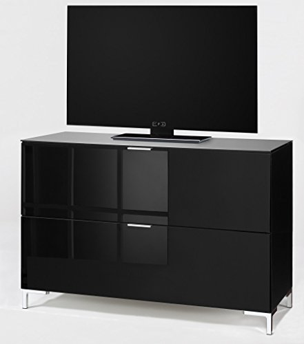 CS Schmalmöbel 45.102.507/038 TV-Board Cleo Typ 13, 109 x 50 x 73 cm, schwarz / schwarzglas - 2