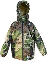 Dry Kids Chaqueta Impermeable Abrigo Unisex Ideal para Jugar al Aire Libre. Matches overpantalón DK002