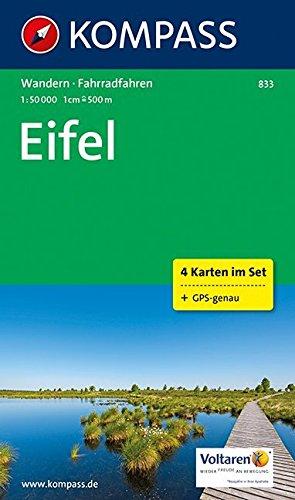 Eifel: Wanderkarten-Set mit Radrouten. GPS-genau. 1:50000 (KOMPASS-Wanderkarten, Band 833)