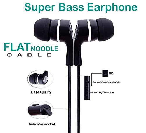 R&S Store In-Ear Headphone With Mic Super Extra Bass Earphone With Mic Compatible with Xiaomi redmi 4/ Xiaomi Mi3 / Mi4 / Mi4i / Redmi Note 4 / Redmi Note 3 / Redmi 3s / Redmi 3s Prime / Redmi 2 / Redmi 2s / Redmi 2 Prime / Mi Note 4G / Mi Note 2 / Xiomi Mi Redmi 2S Prime / Xiaomi Redmi 3 S Prime / Xiaomi Redmi 3S Prime / Mi 4 / Mi Note 4 Redmi 4a and all other Xiaomi redmi ear phone