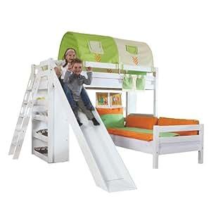 relita etagenbett sky buche massiv wei lackiert mit. Black Bedroom Furniture Sets. Home Design Ideas