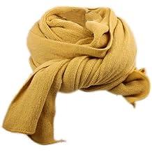 4acd69f6317 Dehang Écharpe longue tricoté Coton Unie Femmes Douce Chaude À la mode –  Kaki   Rouge