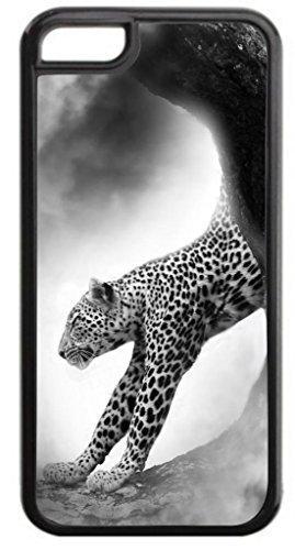 cheetah-black und weiß-Fall nur für das Apple iPhone 6Plus Hartschale Schwarz Kunststoff Snap auf Fall (I Phone 6 Fällen Cheetah)