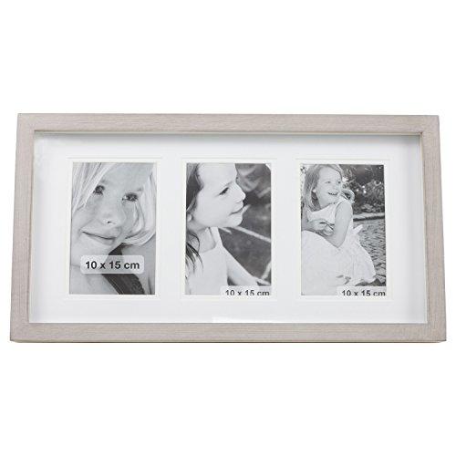 Bilder Foto Rahmen aus Holz für 3 Fotos 10 x 15