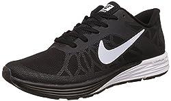 Nike Mens Lunarglide 6 Black Running Shoes - 7.5 UK/India (42 EU)(8.5 US)(654433-010)