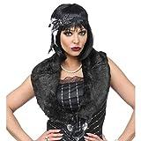 NET TOYS 20er & 30er Jahre Kostüm-Set | Schwarz | Elegante Damen-Accessoires Charleston mit Stola & Stirnband | Perfekt angezogen für Mottoparty & Fasching