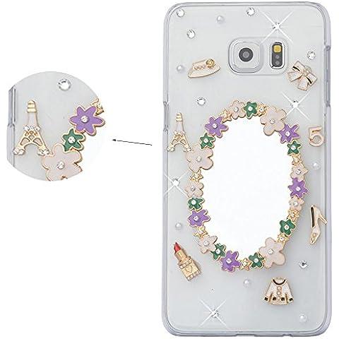 Spritech (TM)-elegante, con specchio per Make-up-Custodia rigida trasparente con diamanti
