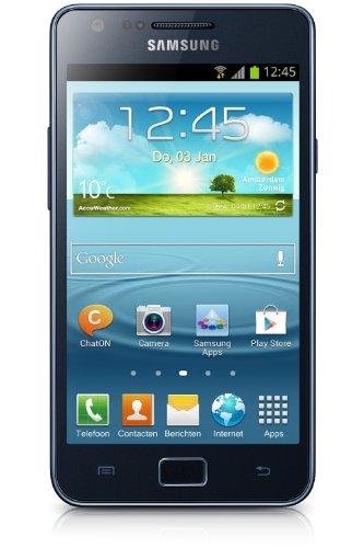 Samsung I9105P Galaxy S II Plus DualCore Smartphone (10,9 cm (4,3 Zoll) Super AMOLED-Display, 8 Megapixel Kamera, Full-HD, WiFi, NFC, Android 4.1) blue-gray (Wi-fi Direct Headset)