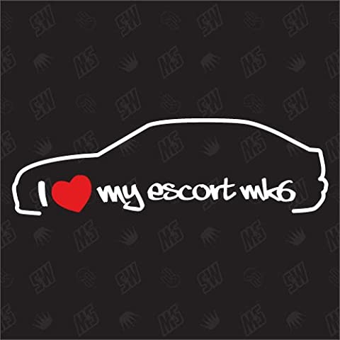 I love my Ford Escort MK6 -Sticker, Bj 95-97