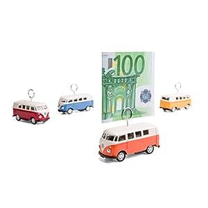 VW Bus - Kartenhalter auf Rädern (orange)