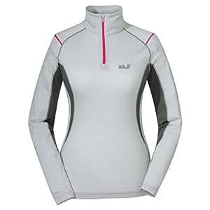 Jack Wolfskin Merino Zip Shirt Women Größe: M Farbe: silver grey