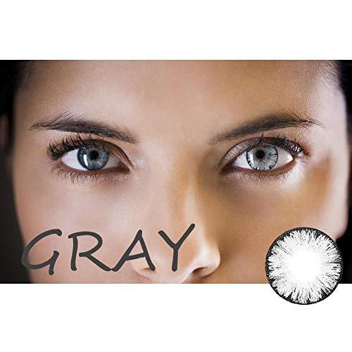 (Multicolor Kontaktlinsen 1 Paar Halloween große Durchmesser kosmetische Kontaktlinsen Kawaii große Augen Kontakte Linsen für Augen Kosmetik Make-up)