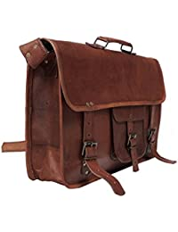 Anshika International Original Leather Messenger/Satchel/Side Leather Bag For Men/Women/Boys/Girls/School/Office...