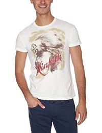 Wrangler Men's S/S Posterprint T Off White T-Shirt